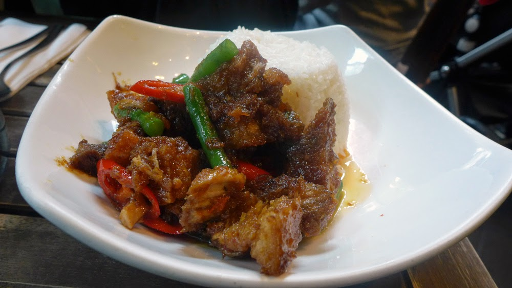 home thai STIR FRIED CRISPY PORK BELLY
