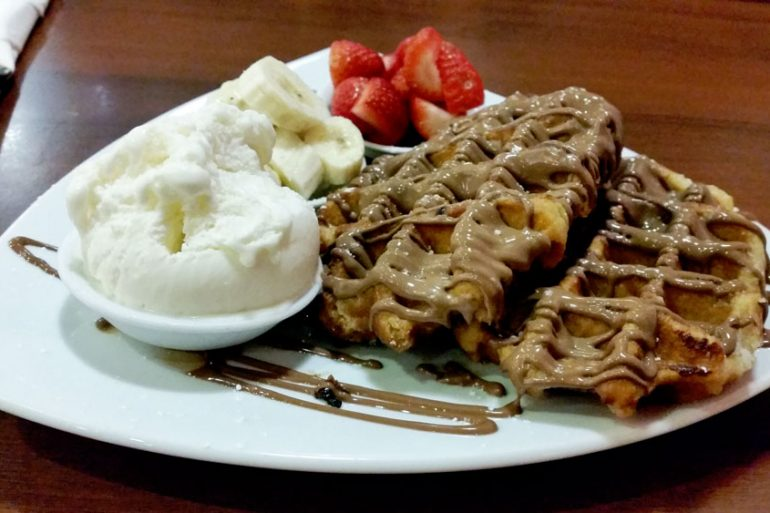 Chocolate Del Mondo Burwood - double belgian waffles