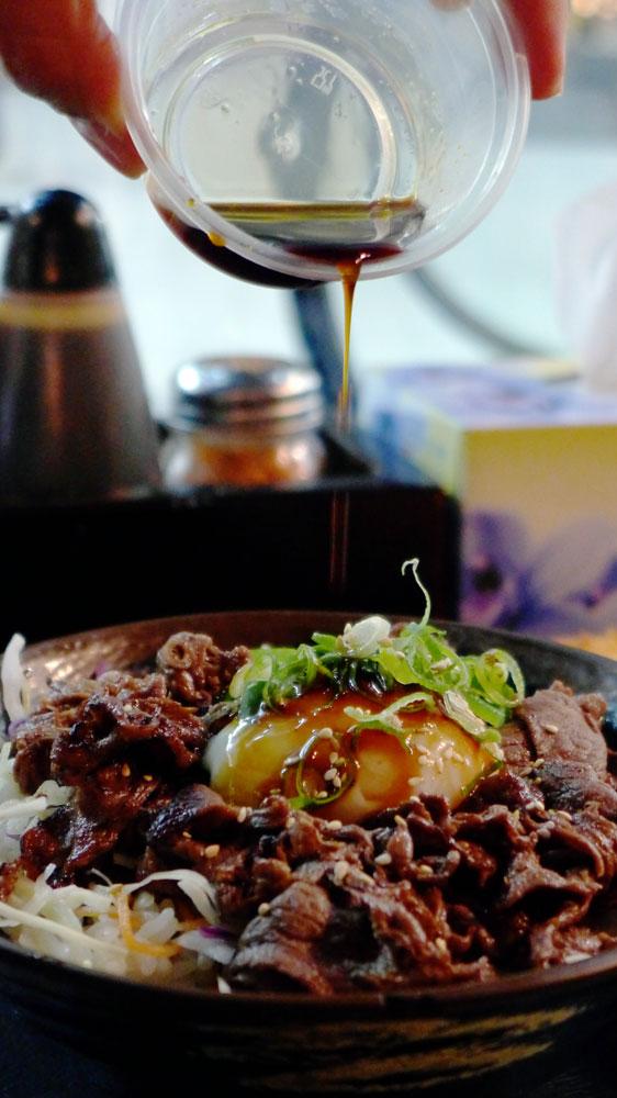 Oiden Rice Bowl Bar Ontama BBQ Beef
