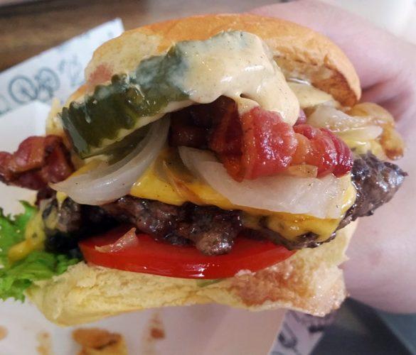 jacks newtown cheese burger served