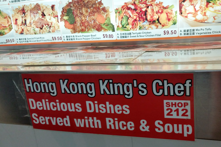 hong kong kings chef eating world sydney sign
