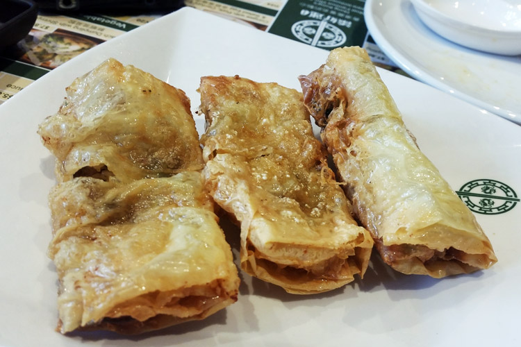 tim ho wan burwood Beancurd Skin Roll with Shrimp