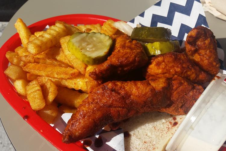 belles hot chicken Wulugul Pop Up The Streets of Barangaroo pop up sydney fried chicken tenders chips