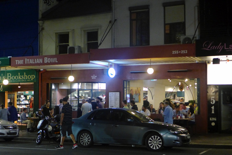 the italian bowl newtown king street sydney outside far