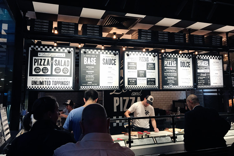 fratelli famous pizzeria world square george street sydney cbd nsw ordering counter